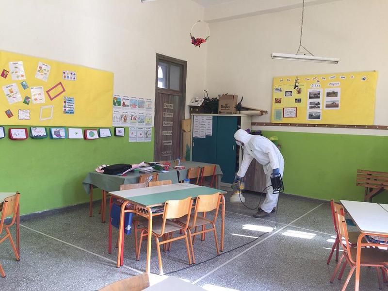 Δήμος Ιωαννιτών- Προληπτικές απολυμάνσεις στις σχολικές μονάδες