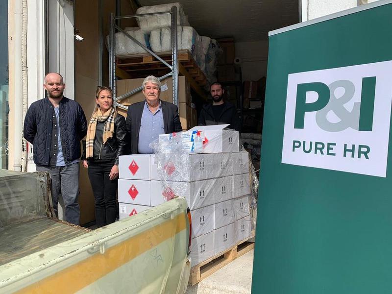 Ευχαριστίες στην P&I  για το υγειονομικό υλικό από τον δήμο Ζαγορίου