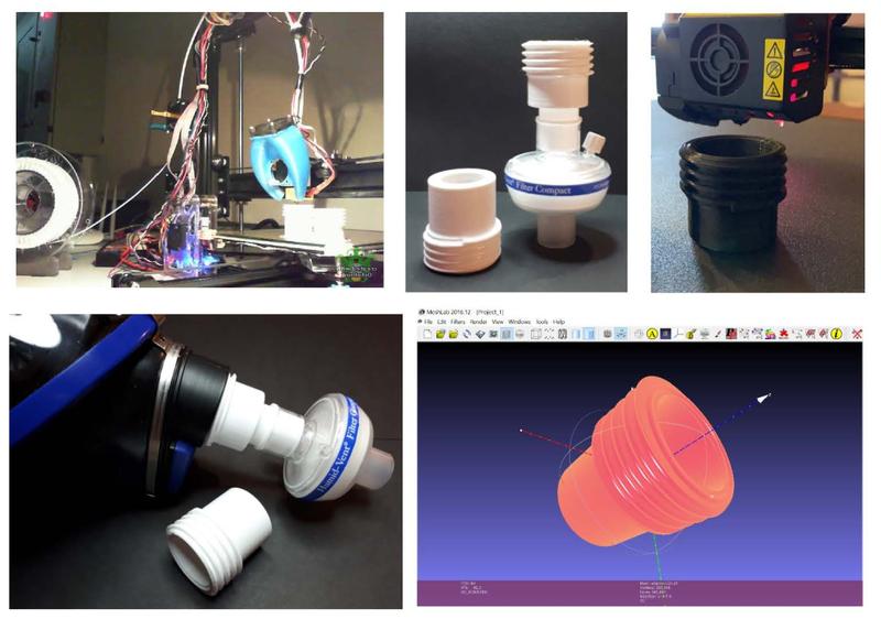 Αντάπτορες και λαβές από 3D εκτυπωτή στην υπηρεσία της ΜΕΘ