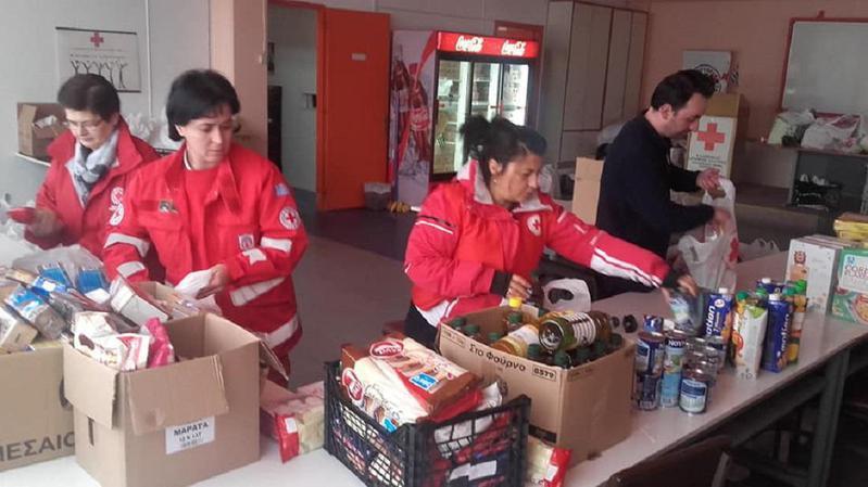 Στήριξη σε 300 νοικοκυριά μέσω Ερυθρού Σταυρού