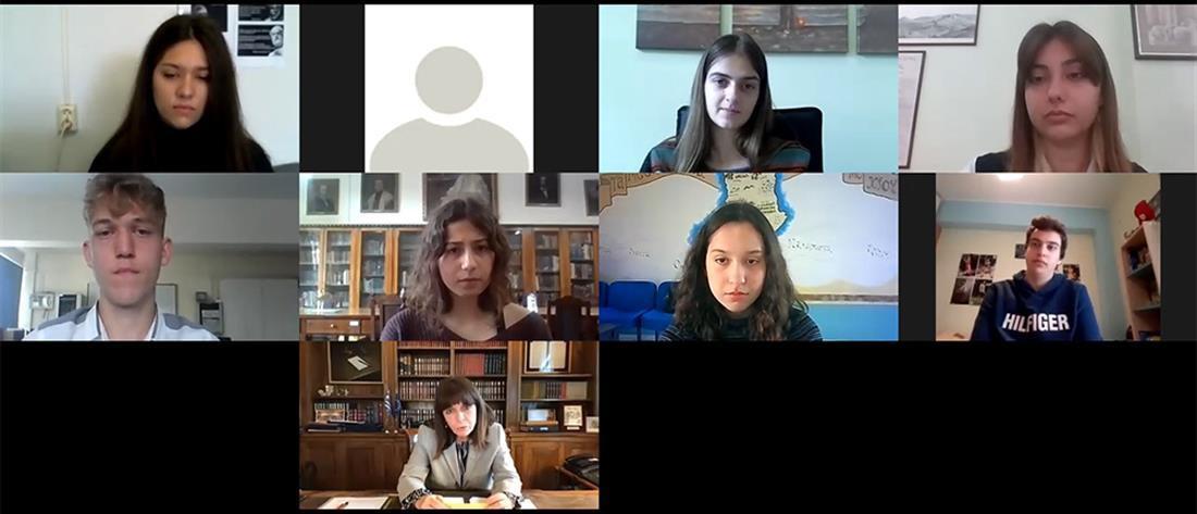 Μαθήτρια του ΓΕΛ Ζωσιμαίας σε διαδικτυακή συζήτηση με την Πρόεδρο της Δημοκρατίας