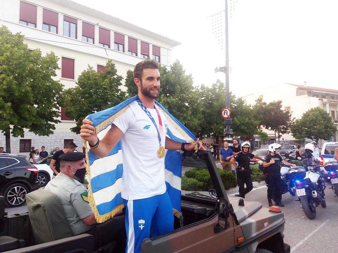 Υποδοχή του χρυσού Ολυμπιονίκη Στέφανου Ντούσκου στα Ιωάννινα